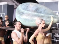 Lady Gaga's entrance in an egg, courtesy of www.theblemish.com