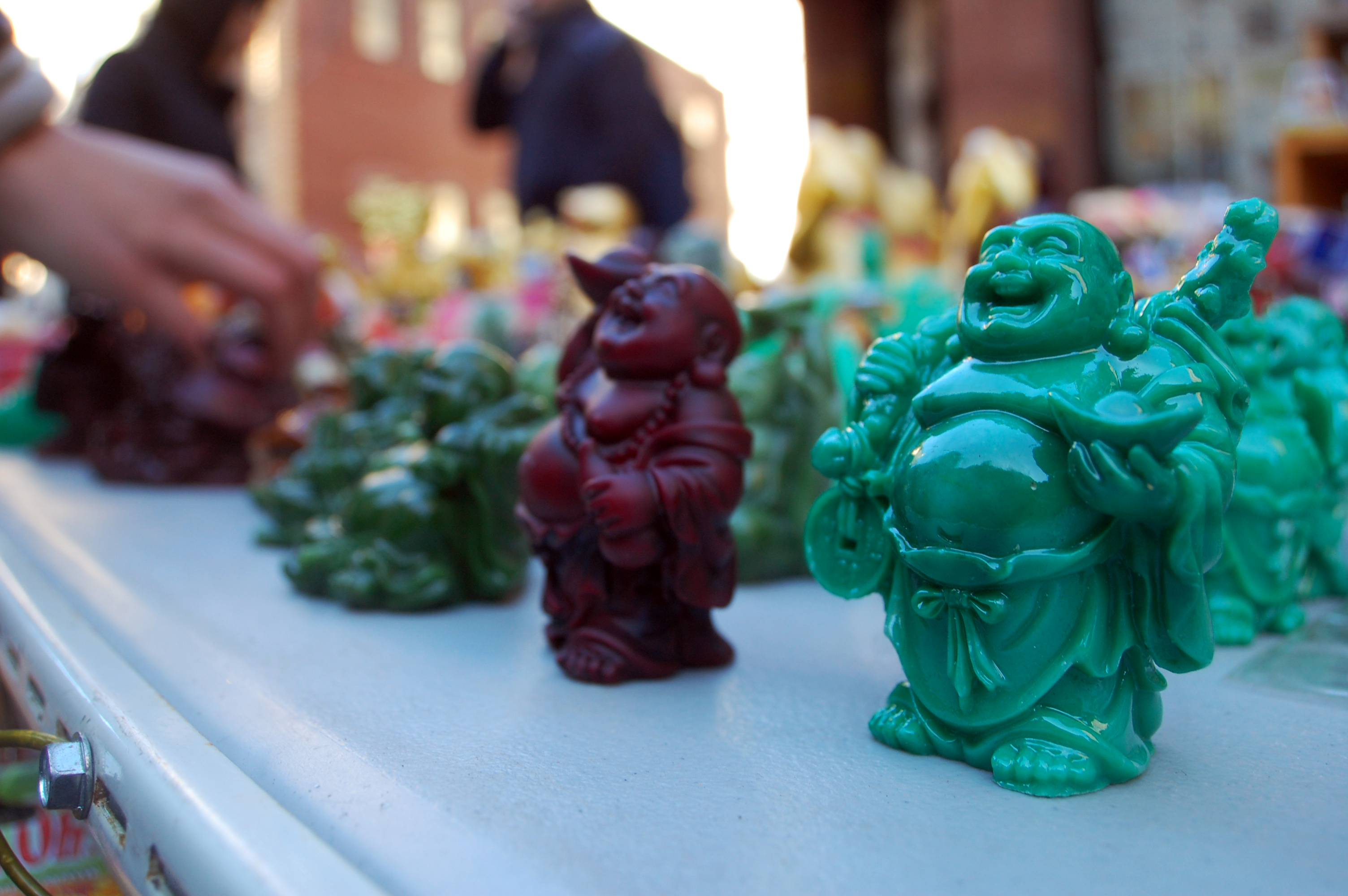 Miniature Buddha's were popular among the souvenir stands.