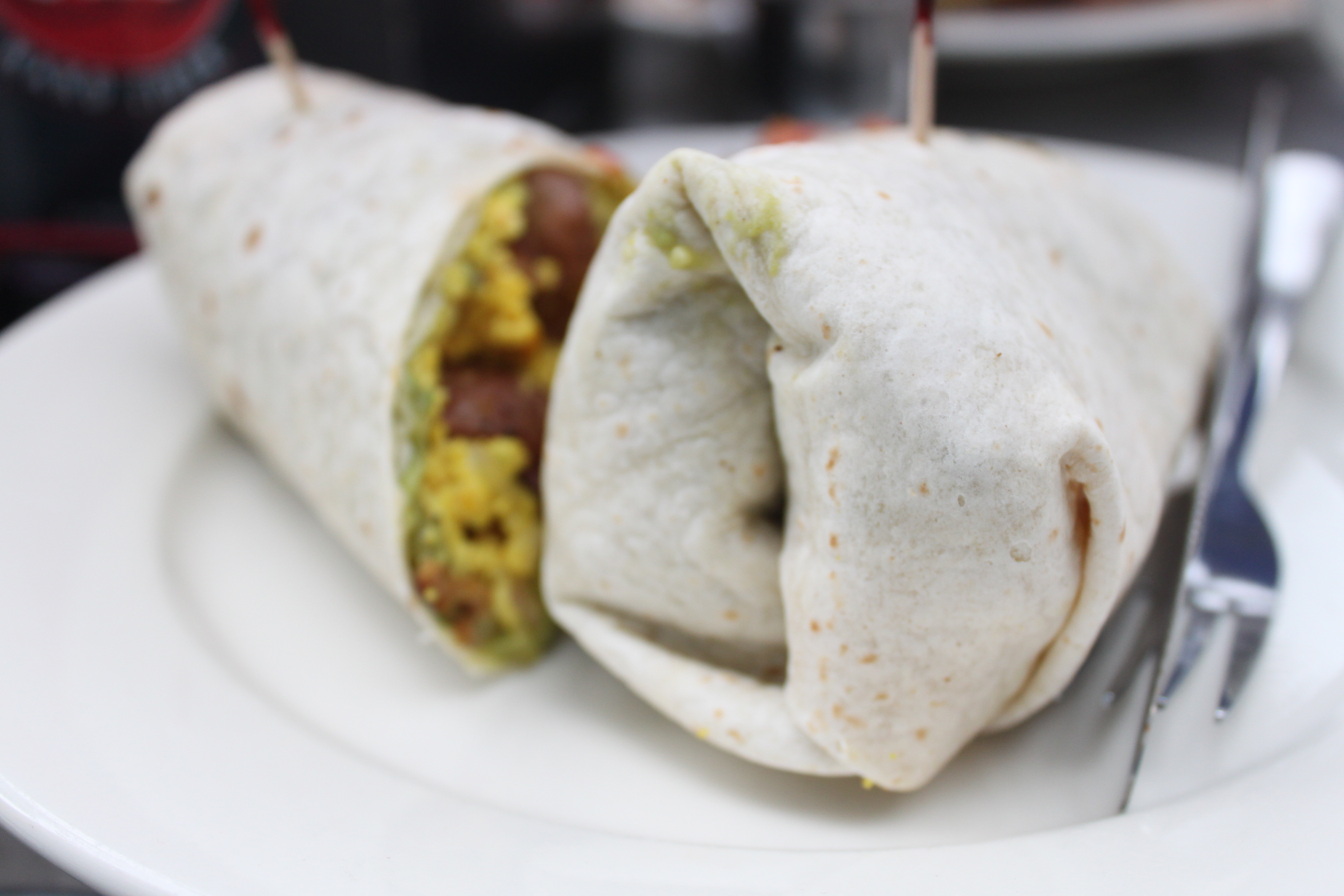 Vegan breakfast burrito from The Other Side Cafe | Photo by Patricia Bruce