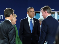 French President Nicolas Sarkozy, German Chancellor Angela Merkel, U.S. President Barack Obama and British Prime Minister David Cameron at the G20 Summit | Courtesy of the White House via Wikimedia Commons