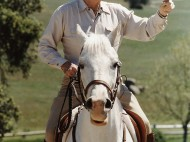 Reagan on Horseback