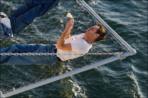 """Joaquin Phoenix at sea. 