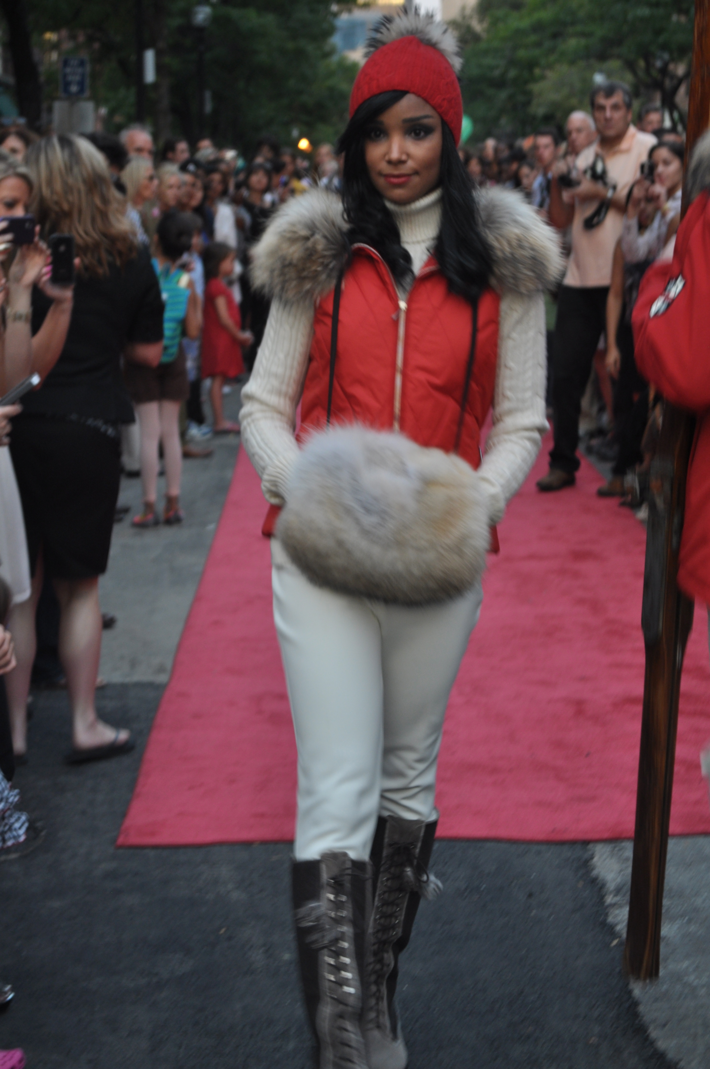 A model displays a look by M. Miller at Newbury Street's fashion show. | Photo by Izzi Fathy.