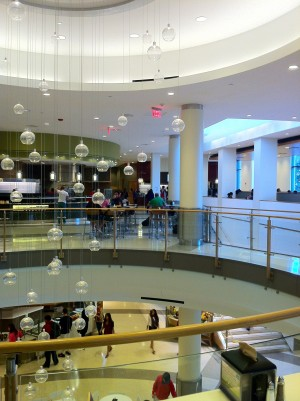 A view of Marciano Commons from the second floor