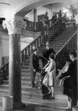 The marble hallway of CGS' first location in Copley Square. | Photo courtesy of Rob Oresick, CGS
