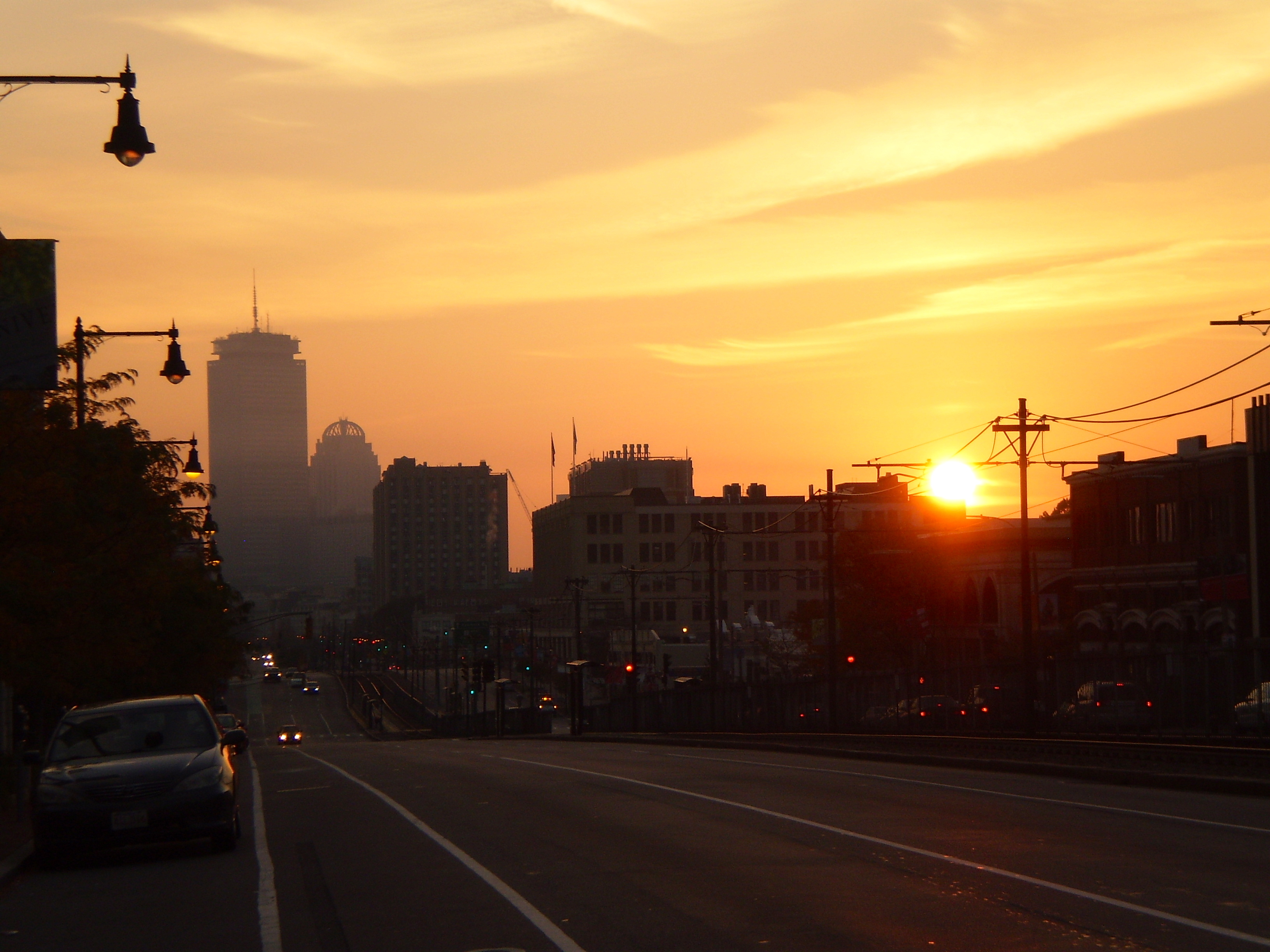 Sunrise on Comm Ave.