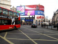 London's Picadilly Circus | by flickr user wolfsavard