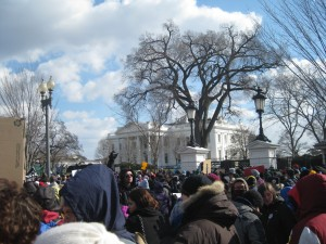 The rally outside of the White House.   Photo by Ari Stern