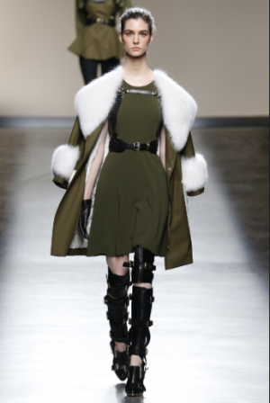 A tailored warrior at Prabal Gurung. Photo via style.com.