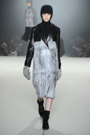 Check the weird balaclava action at Alexander Wang. Bonus points--ankle cozies! Photo via wwd.com.