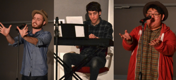From left: Hilborn, Garity, and Nguyen performing Friday evening. | Photos by Cecilia Weddell