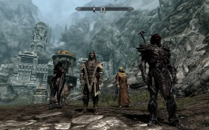 "Skyrim uses impressive AI to make characters in the surrounding world behave autonomously. | Photo courtesy Flickr via John ""Pathfinder"" Lester."
