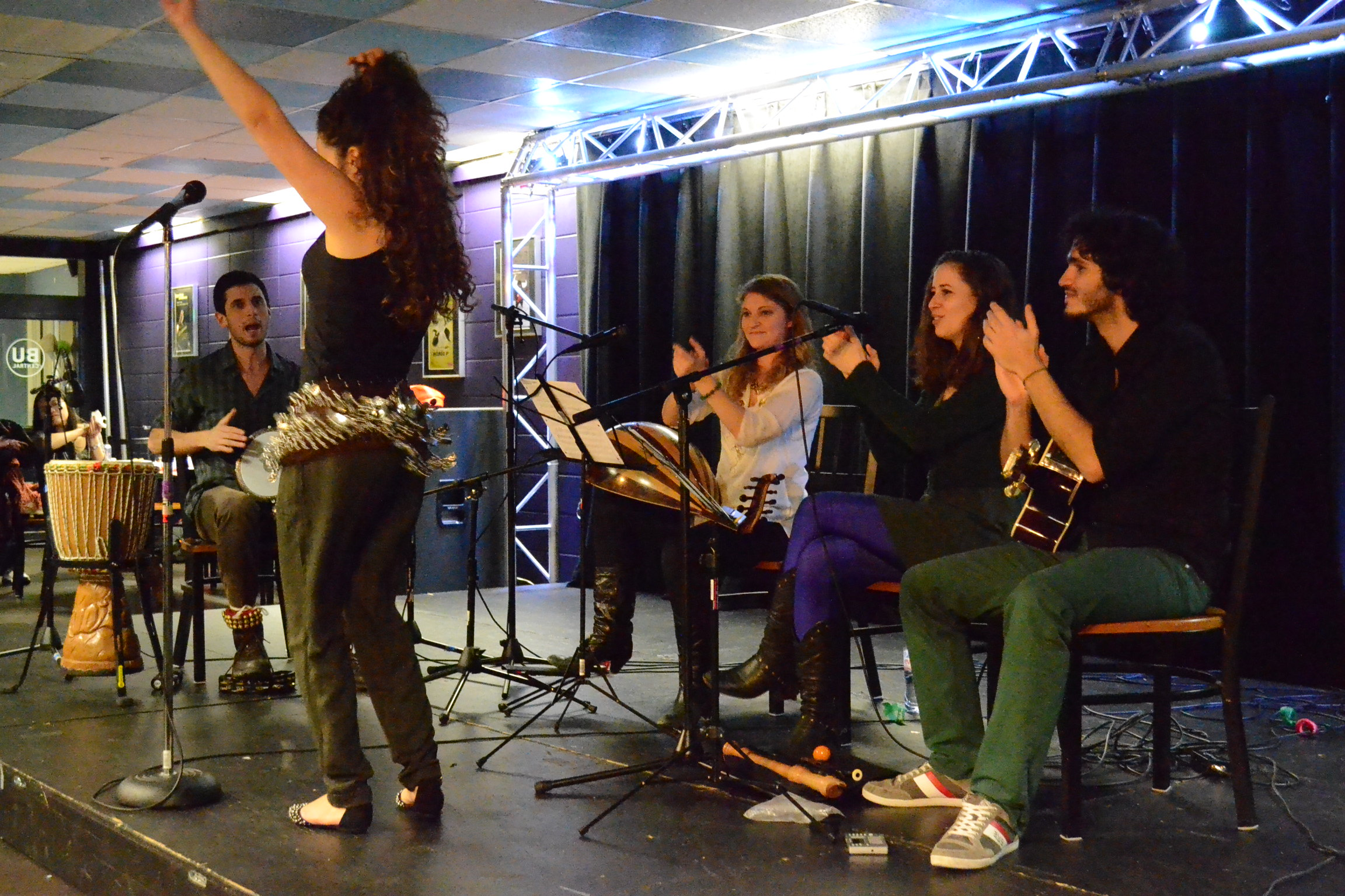 The Berklee Lions perform in BU Central Monday. | Photos by Cecilia Weddell