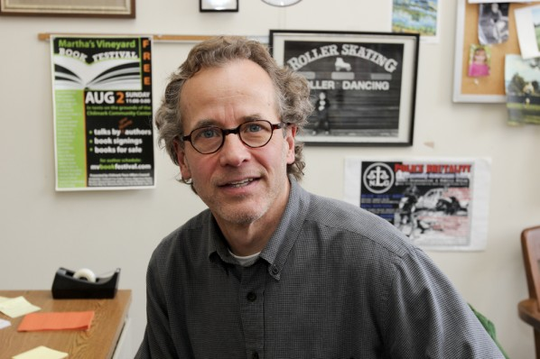 Dick Lehr is a co-author of several books on Whitey Bulger, a former Boston Globe reporter and a professor at Boston University's College of Communication.   Photo by Katy Meyer.