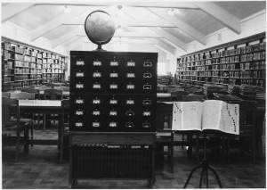 Back in 1938, inmates were given the opportunity to learn in this prison library.  |  Photo courtesy of the Department of Justice.
