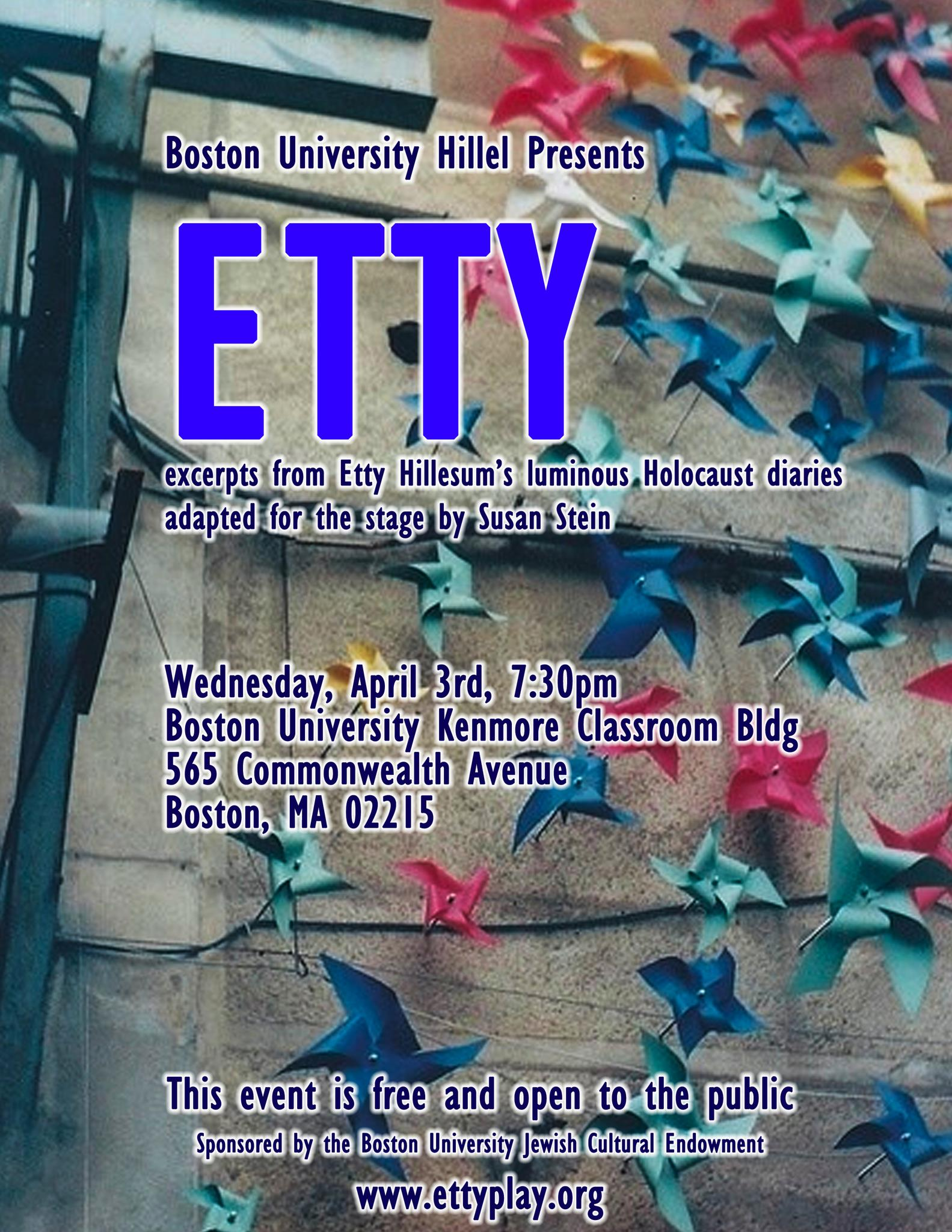 "BU's poster for ""Etty Play"""