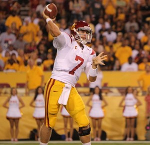 USC Quarterback Matt Barkley | Photo courtesy of  flickr user Neon Tommy via wiki commons