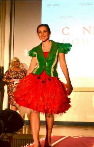 Elia Cola (SPH '14) is currently auctioning this dress to raise more money for Partners in Health   Photo courtesy of BU FACE AIDS