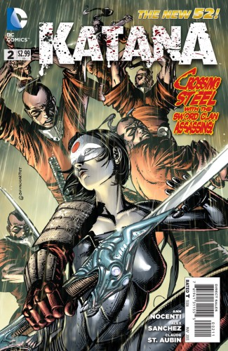 The Katana series is in its second issue but is already well within cancellation range. | Cover courtesy of DC Comics.