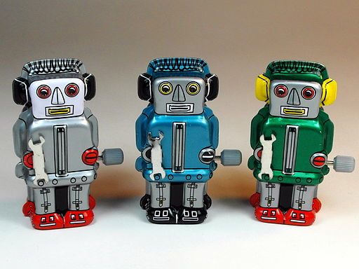 These tiny robots aren't nano, or even micro, scale, but they still look rad. | Image courtesy Wikimedia Commons via D J Shin.