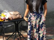 Love for Kim Xayyalath's (CAS '15) Joy Division tee will tear us apart (again). Pairing this rock and roll top with a boho midi skirt? Genius. Photo by Sharon Weissburg