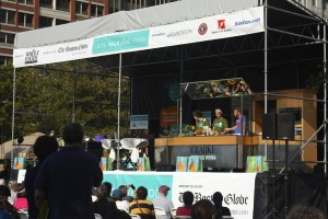Chefs from around New England demonstrate at the Fest's main stage - Photo by Hanna Klein