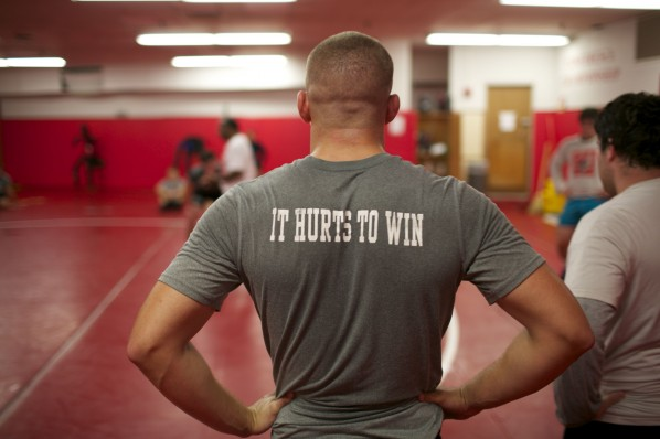 """The original working title for the documentary film was """"Pinned."""" The current working title, """"It Hurts To Win,"""" was inspired by this year's team motto."""