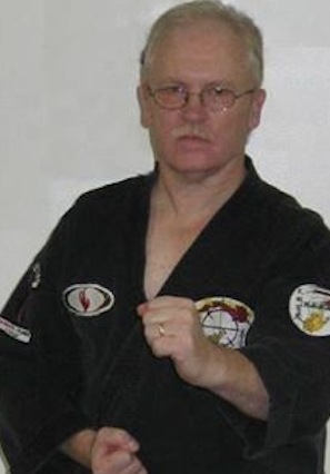 Kilachand Hall security guard Michael Swan practices American Kenpo. | photo provided by Michael Swan