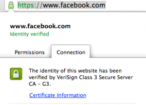 On a Mac, click on the lock in front of your status bar to check on your SSL certificate. | Screenshot by Yasmin Gentry