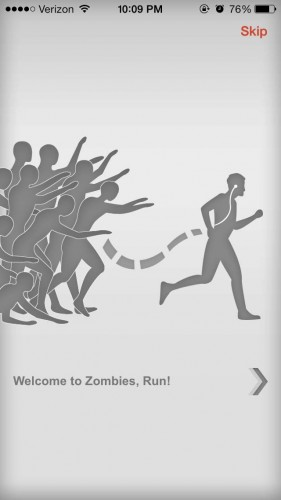 I would have preferred being chased by actual zombies over paying $3.99 for this app.   Screenshot by Grace Rasmus
