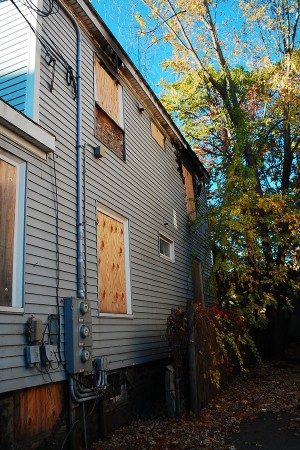 In the tragic fire last spring, the apartment at 87 Linden Street was severely burned. | Photo by Ashley Hansberry.