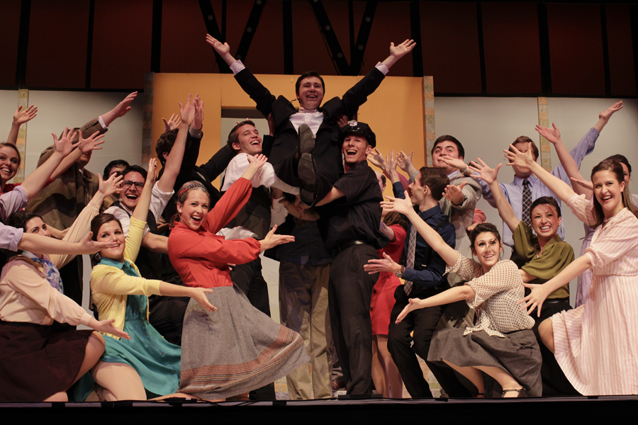 On Broadway presents: How to Succeed in Business Without Really Trying. | Photo by Katy Meyer.