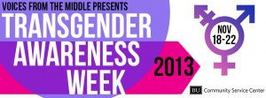 Transgender Awareness Week 2013 | Photo courtesy of BU Community Service Center