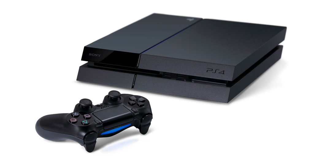 Sony's new console, the PlayStation 4. Promotional image courtesy of Sony Entertainment.