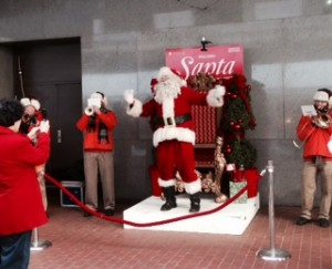 Santa and his musical elves showed up outside of Macy's ready to sing and dance | Photo courtesy of Beth St. John