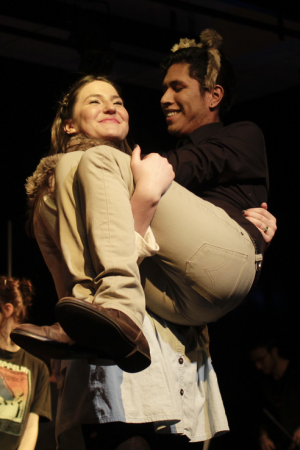 """Claire Sutton and Rodrigo Mendoza perform """"How Sweet it Is."""" 