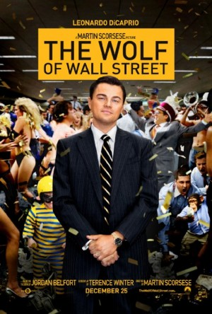The Wolf of Wall Street promotional poster courtesy of Paramount Pictures