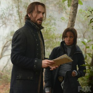 Ichabod Crane and Abbie Mills, solving crimes and looking awesome doing so.   Promotional still from http://www.fox.com/sleepy-hollow/