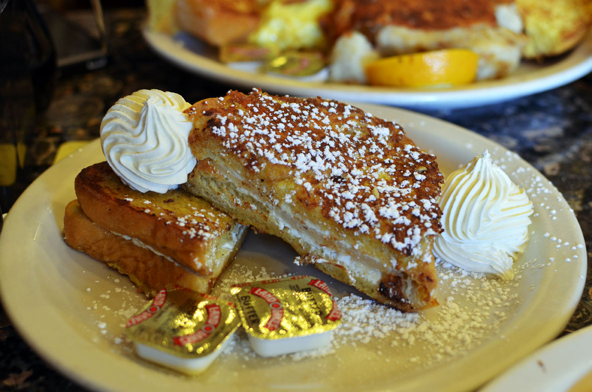 Pear and Goat Cheese French Toast at Ball Square Cafe   photo by Kara Korab