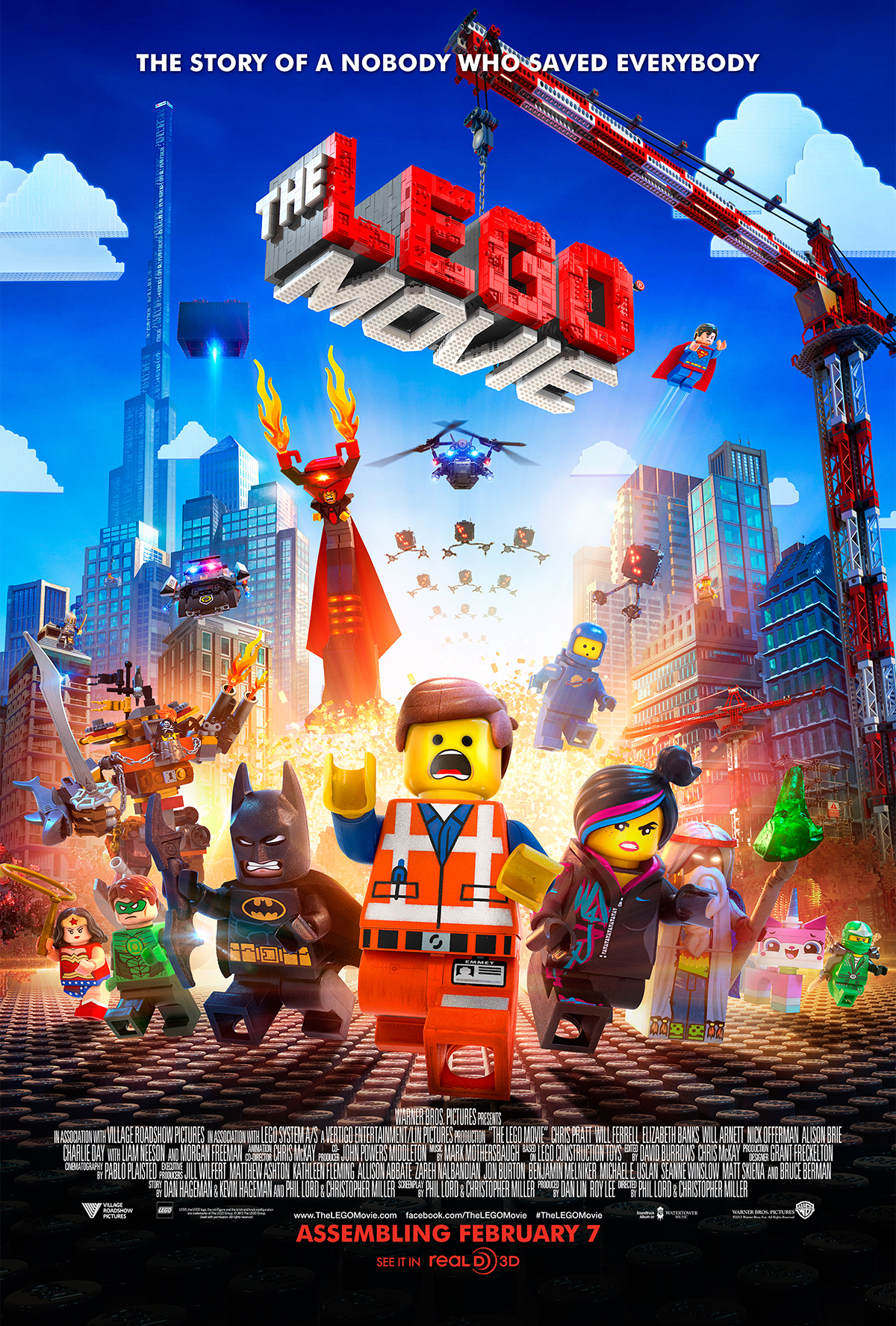 Everything Is Awesome !!! | The Lego Movie Promotional Poster courtesy