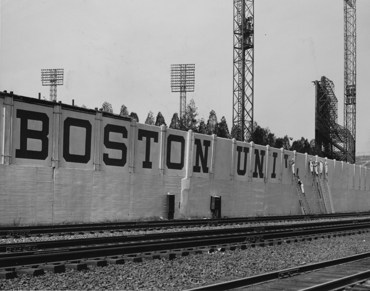 "After purchasing the field, BU replaced the word ""Braves"" with its own Boston-prefixed moniker. 