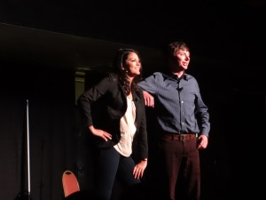 SNL's Cecily Strong & Mike O'Brien performed in front of hundreds of BU students | Photo by Hanna Klein