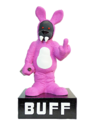 The highly-coveted Bacchus Award featuring Bacchus, the festival's demonic bunny mascot | Photo courtesy of BUFF