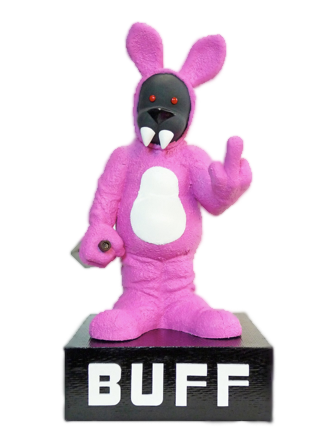 The highly-coveted Bacchus Award featuring Bacchus, the festival's demonic bunny mascot   Photo courtesy of BUFF
