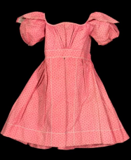 Child's Dress About 1825 Cotton print with cotton embroidery and mother of pearl buttons.  *Gift of Miss Frances Fowler and Professor Harold North Fowler *Photograph © Museum of Fine Arts, Boston