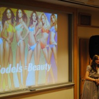 Leah Darrow discusses the media's portrayal of beauty | Photo by Carol Chin