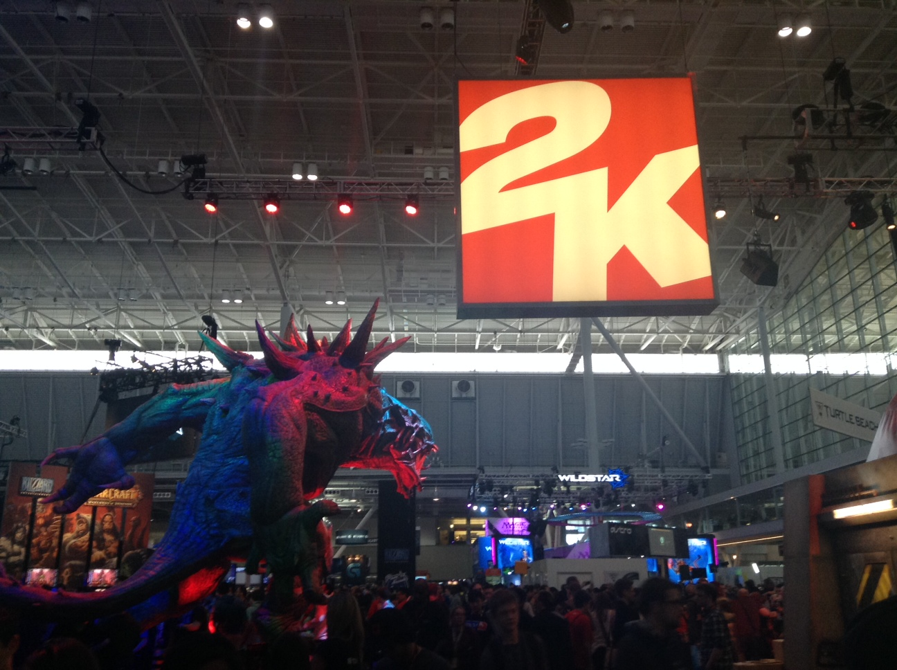 2K's booth area. Photo courtesy of Andrew Evans.