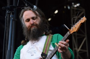 Brett Netson of Built to Spill plays with lit cigarette on his guitar | Photo by Kara Korab