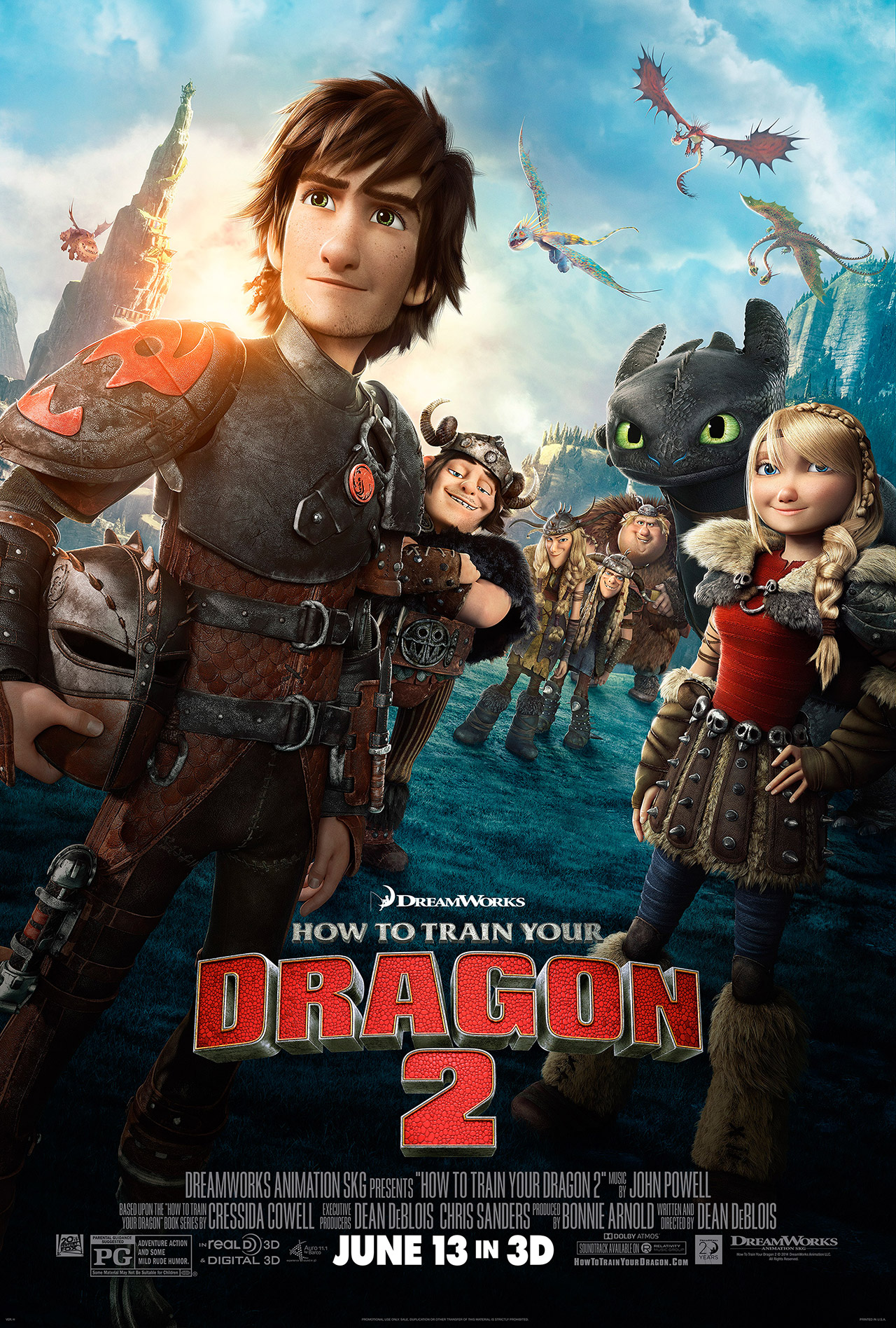 The gang's all back! | How to Train Your Dragon 2 Promotional Poster, courtesy of Dreamworks Animation.