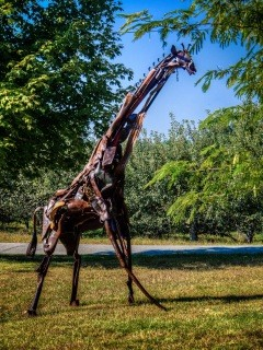 """""""Around the Park and Through the Woods"""" is a sculpture walk featuring work from 15 local artists through wooded trails 